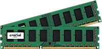 32GB DDR3L - 1600 MHz Crucial CL11 UDIMM kit 1.35V/1.5V, 2x16GB