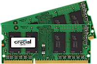 SO-DIMM kit 4GB DDR3L - 1600 MHz Crucial CL11 DR 1.35V/1.5V, 2x2GB