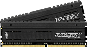 16GB DDR4-2666MHz Crucial Ballistix Elite CL16 DRx8, kit 2x8GB