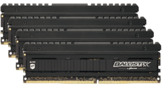 32GB DDR4 3600MHz Crucial Ballistix Elite CL16 4x8GB
