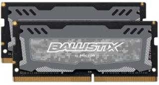 SO-DIMM 8GB DDR4 2666MHz Crucial Ballistix Sport LT CL16 2x4GB Grey