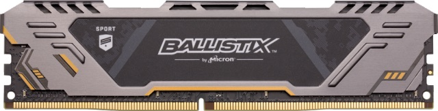 16GB DDR4 2666MHz Crucial Ballistix Sport AT Gaming CL16 Grey