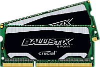 SO-DIMM 8GB kit DDR3 - 1600 MHz Crucial Ballistix Sport CL9 1,35V, 2x4GB