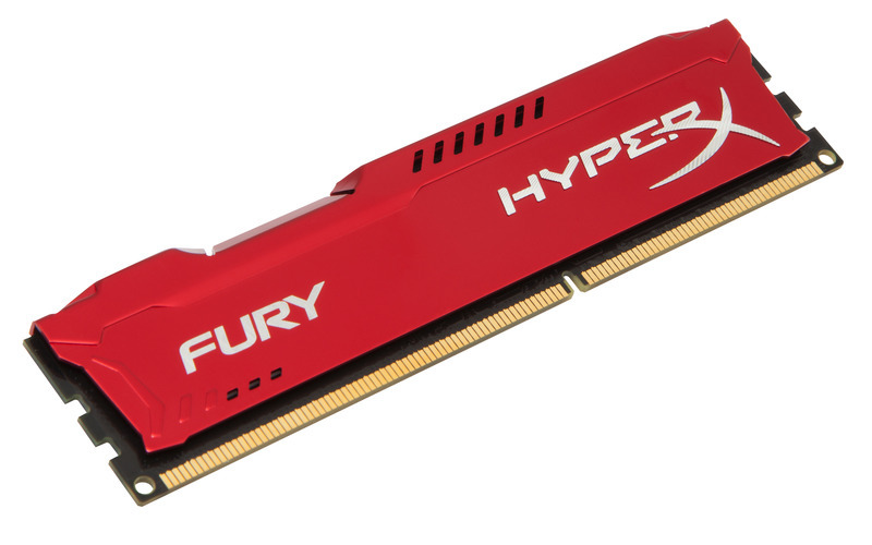 8GB DDR3-1866MHz Kingston HyperX Fury Red