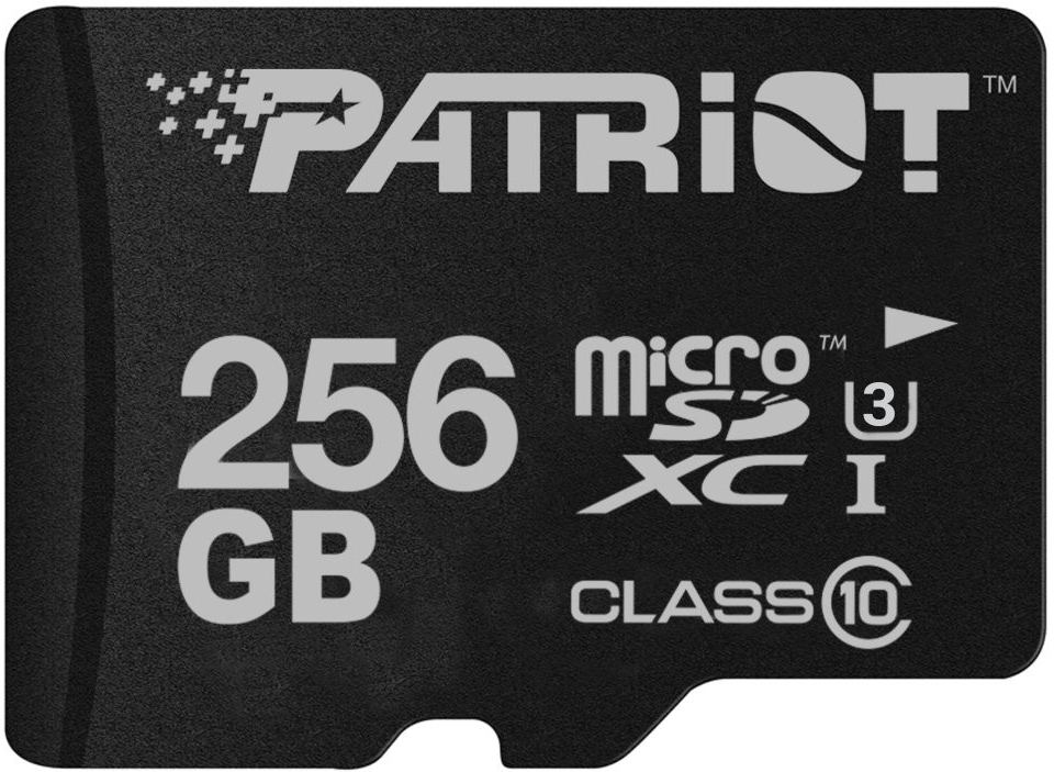 PATRIOT 256GB microSDXC CL10 UHS-I  U3 90/80MB/s