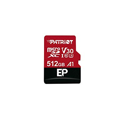 512GB microSDXC Patriot V30 A1, class 10 U3 100/80MB/s + adapter