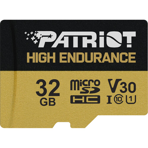 32GB microSDHC Patriot High Endurance V30 U3 až 95MB/s