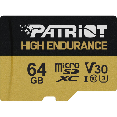 64GB microSDXC Patriot High Endurance V30 U3 až 95MB/s