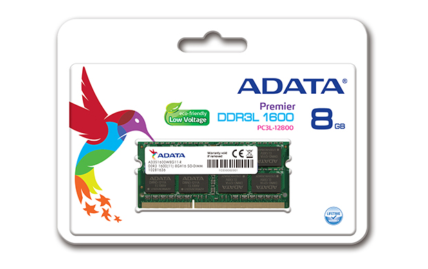 SO-DIMM 8GB DDR3L-1600MHz ADATA CL11 1,35V