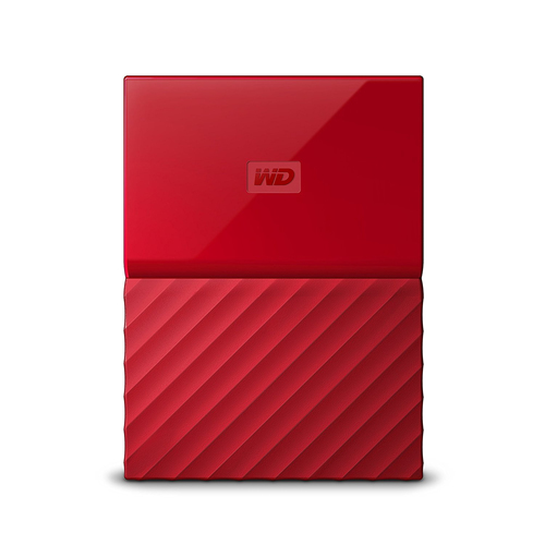 "Ext. HDD 2,5"" WD My Passport 2TB USB 3.0 červený"