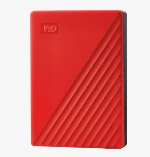 "Ext. HDD 2,5"" WD My Passport 4TB USB 3.0. červený"