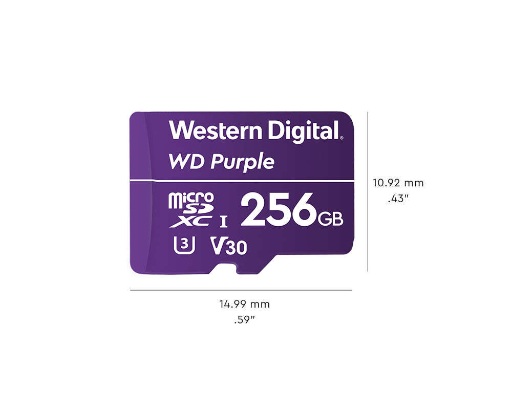 WD Purple microSDXC 256GB 100MB/s U3