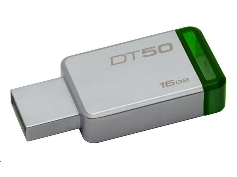 16GB Kingston USB 3.0 DT50 kovová zelená