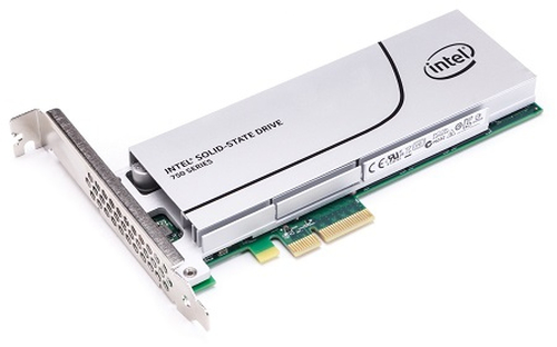 SSD 1.2TB Intel 750 half-height PCIe 3.0 x4 MLC
