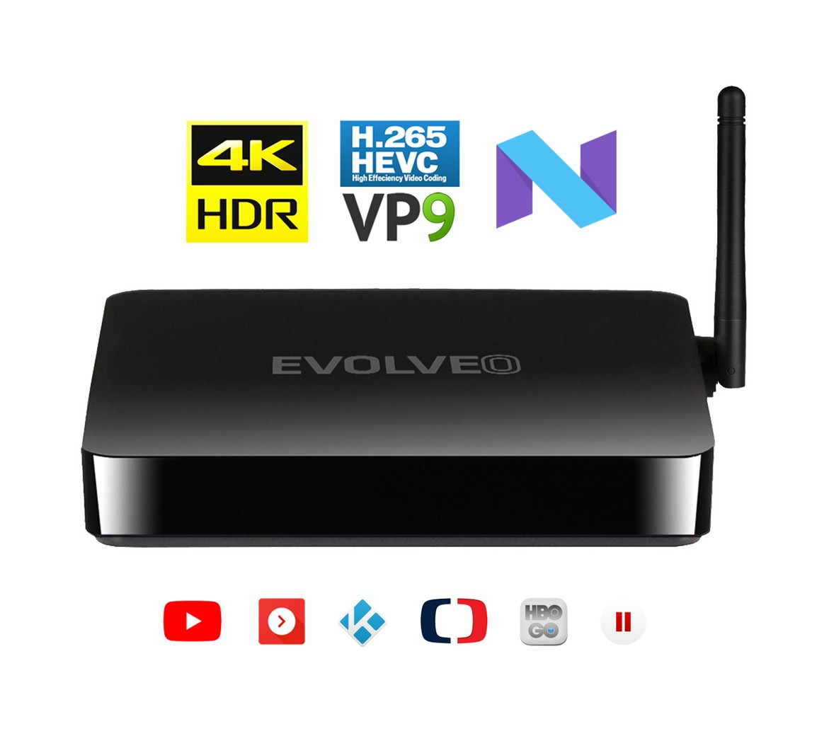 EVOLVEO MultiMedia Box M4, Quad Core multimediální centrum