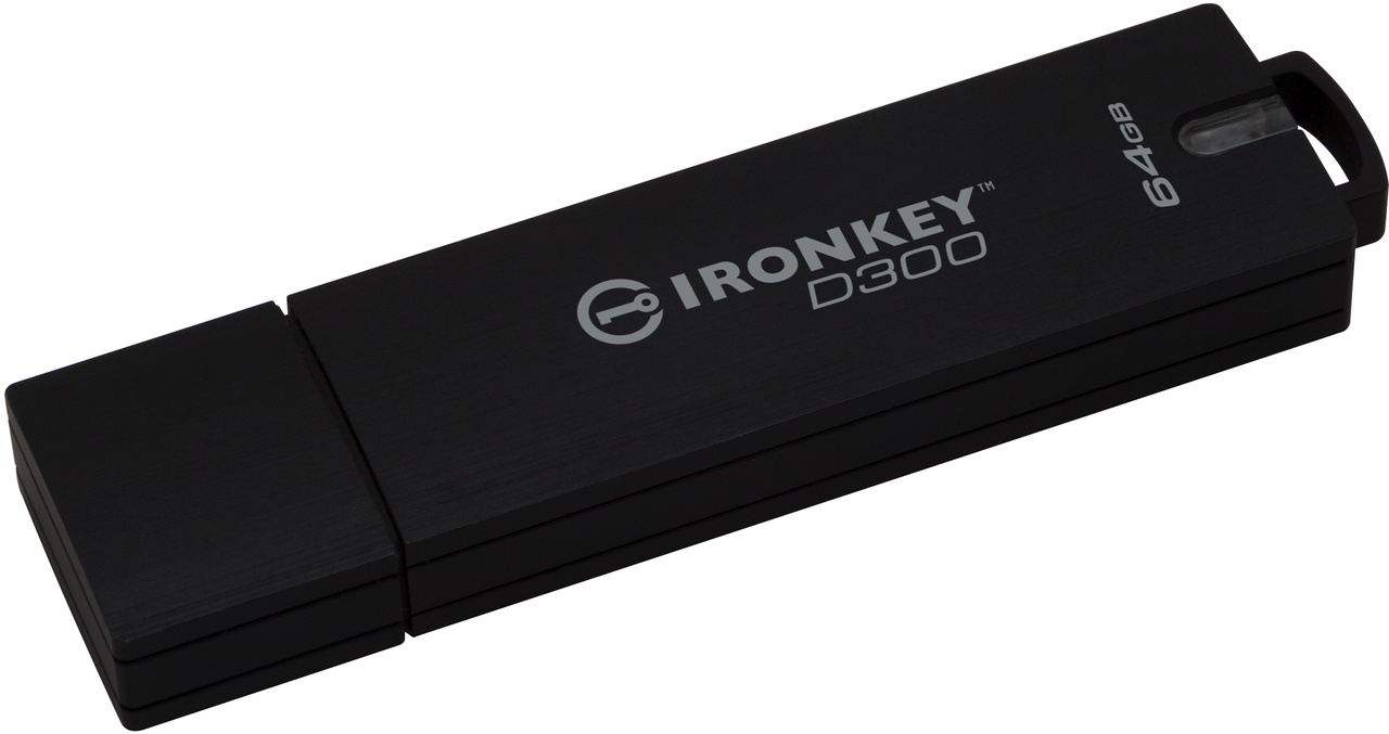 64GB Kingston IronKey D300 šifrovaný USB 3.0 FIPS Level 3