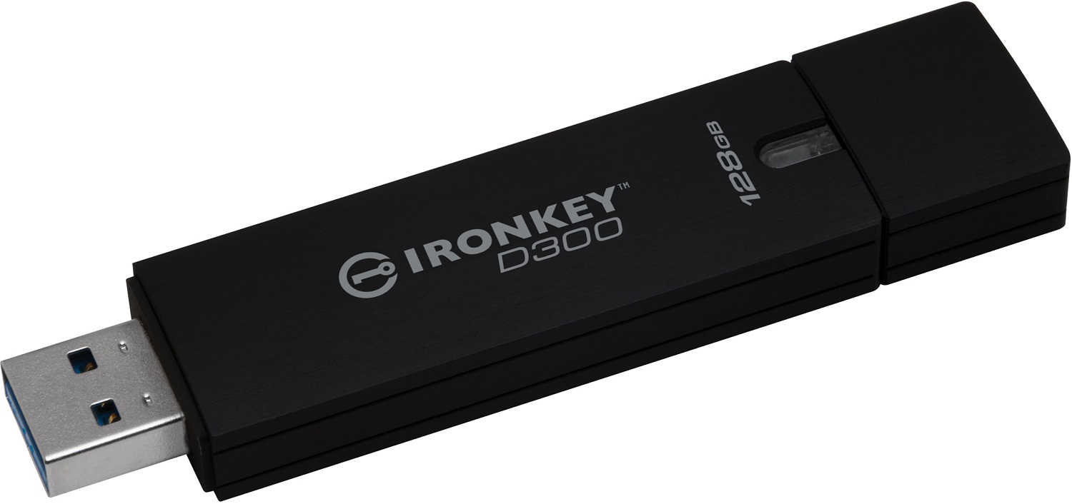 128GB Kingston IronKey D300 šifrovaný USB 3.0 FIPS Level 3