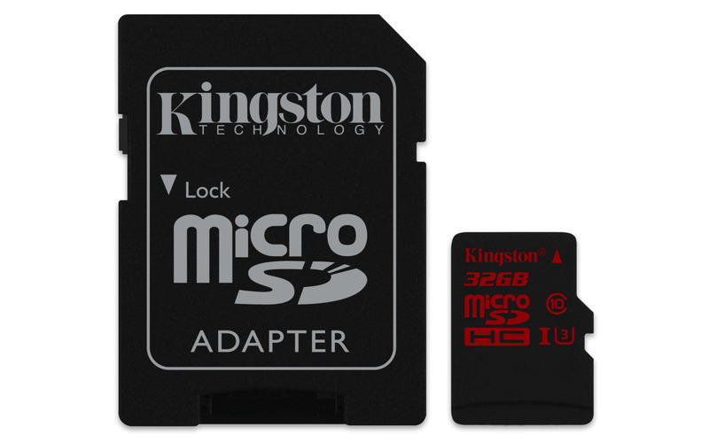 32GB microSDHC Kingston U3 90R/80W