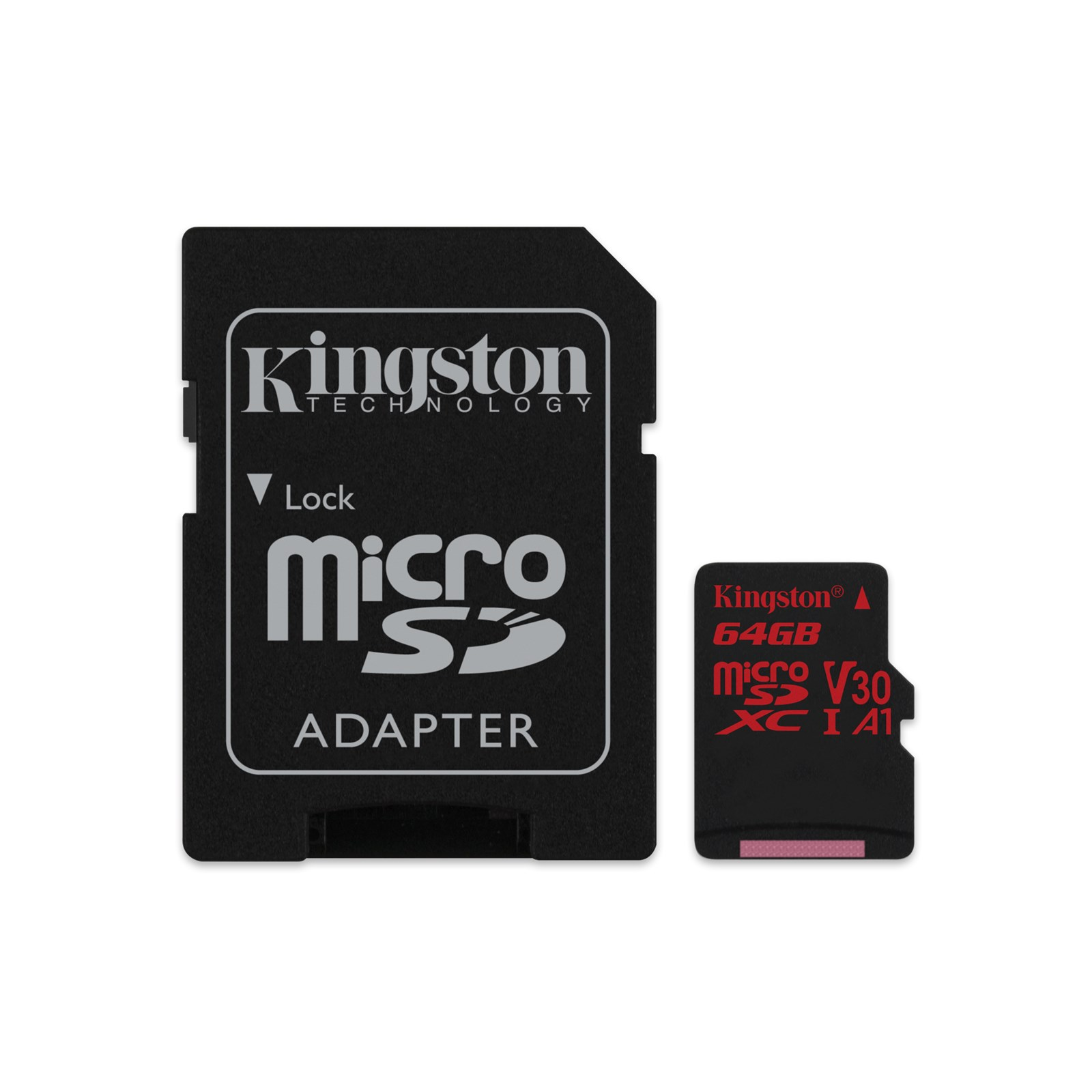 64GB microSDXC Kingston Canvas React  U3 100R/70W V30 A1 + SD adapter