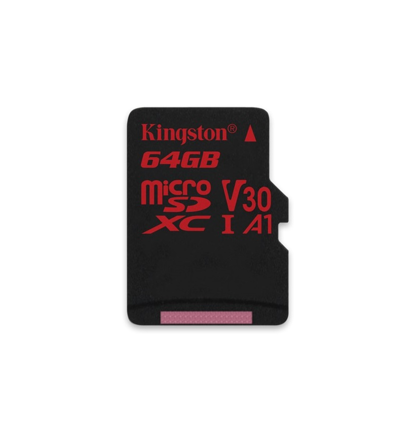 64GB microSDXC Kingston Canvas React  U3 100R/70W V30 A1 + bez adapteru