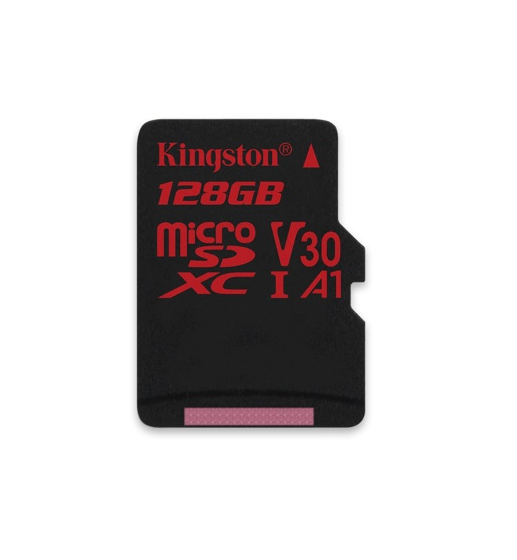 128GB microSDXC Kingston Canvas React  U3 100R/70W V30 A1 + bez adapteru