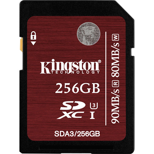 256GB SDXC Kingston U3 90R/80W