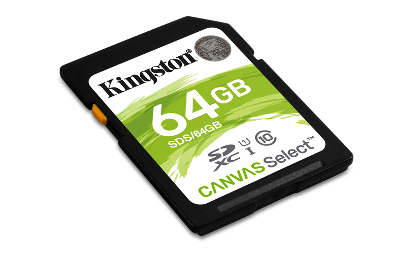 64GB SDXC Kingston Canvas Select CL10 UHS-I 80R