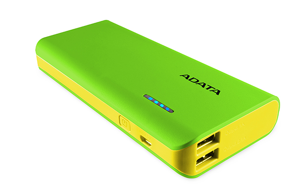 ADATA PT100 Power Bank 10000mAh zelená/žlutá