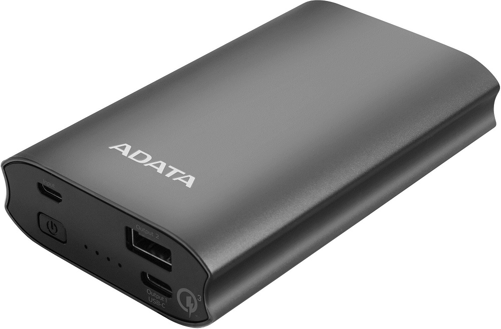 ADATA A10050QC Power Bank 10050mAh titánová