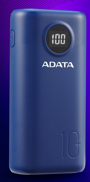 ADATA P10000QCD Power Bank 10000mAh modrá