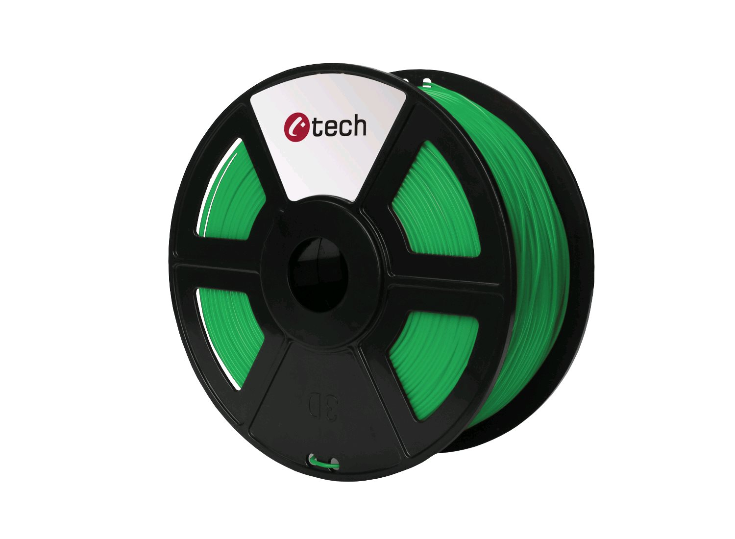 PETG filament zelená C-TECH, 1,75mm, 1kg