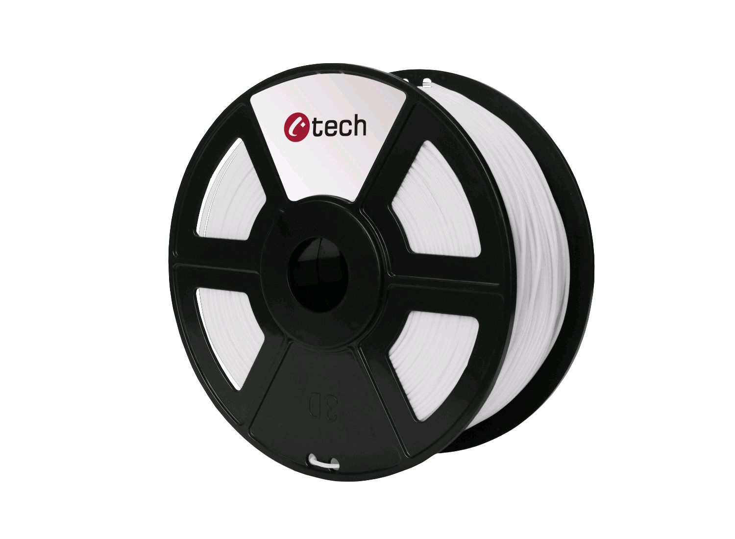 PETG filament bílá C-TECH, 1,75mm, 1kg