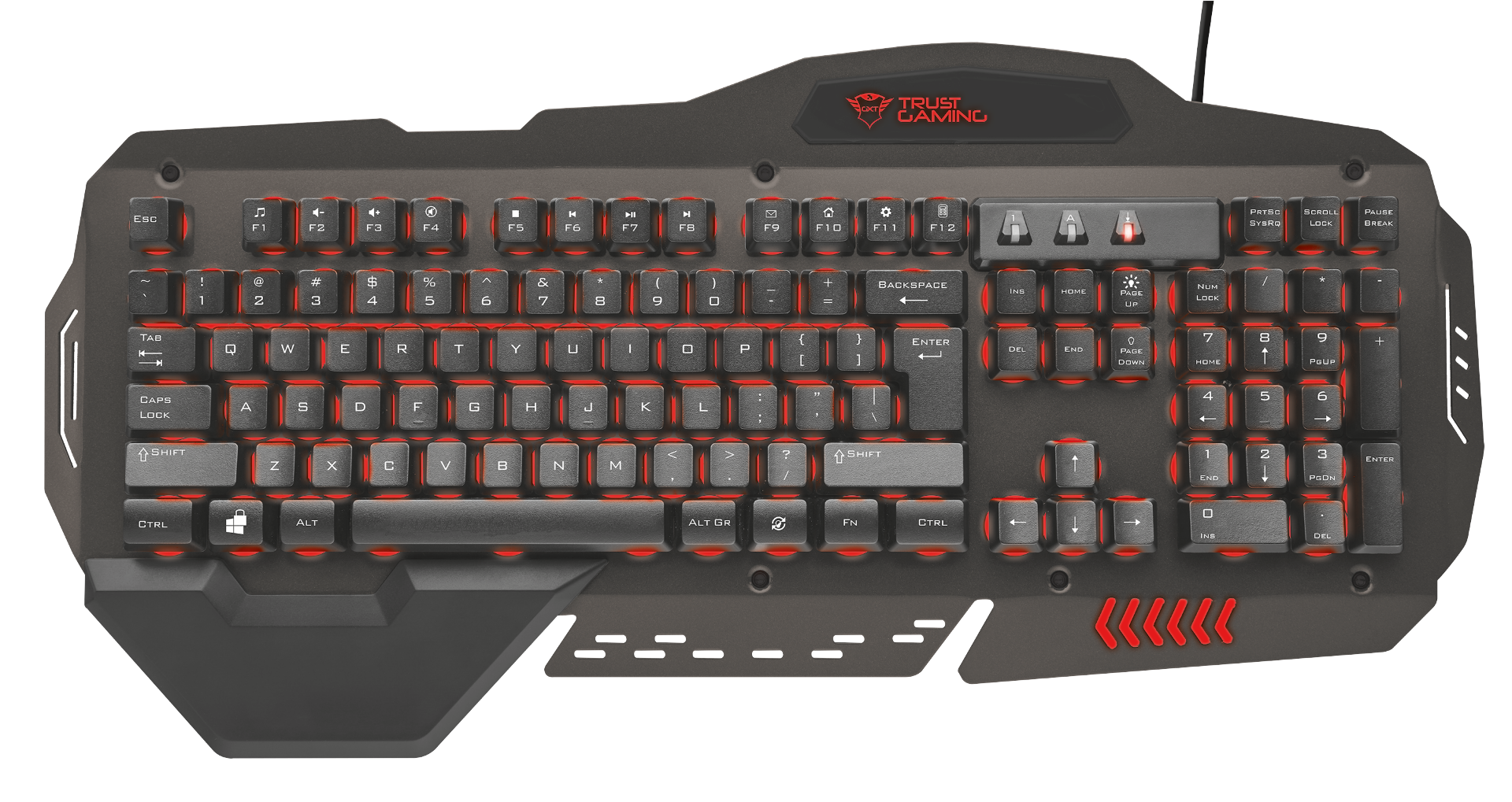 kláv. TRUST GXT 850 Metal Gaming Keyboard