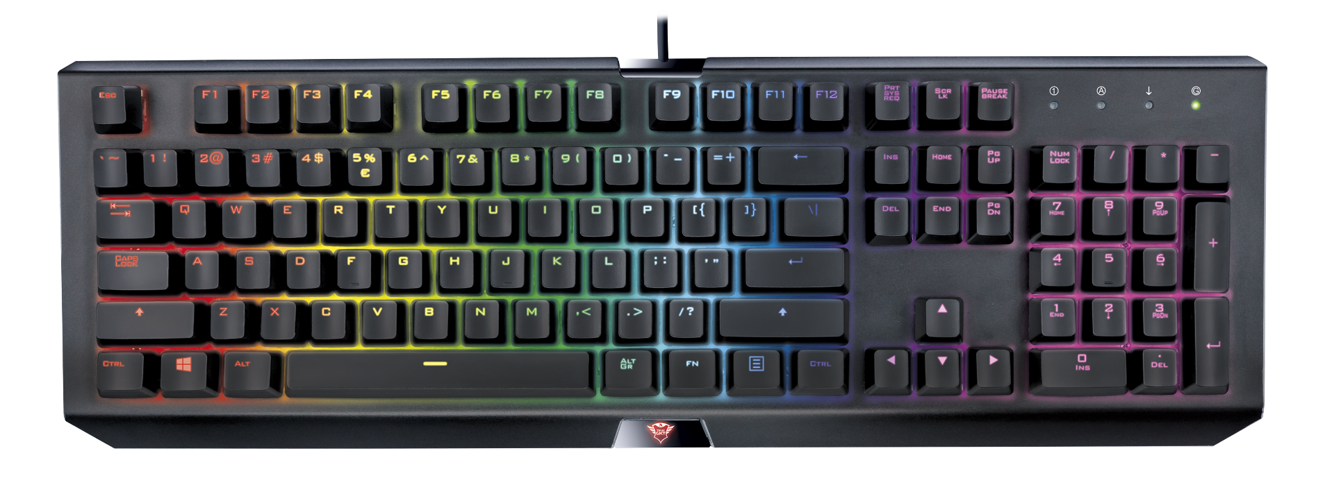 kláv. TRUST GXT 890 Cada RGB Mechanical Keyboard