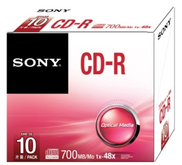 Média SONY CD-R  10CDQ-80SS,48x, bal. 10ks,SLIM