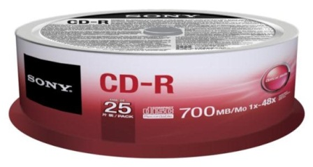 Média SONY CD-R  25CDQ-80SP.25ks,SPINDL