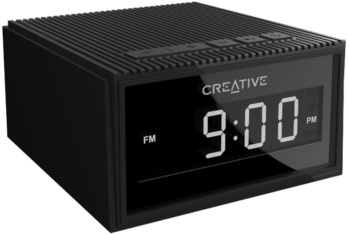 CREATIVE CHRONO Wireless speaker alarm clock,black