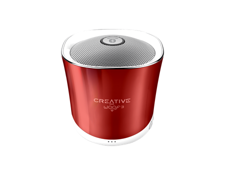 Speaker CREATIVE WOOF3, Bluetooth, red