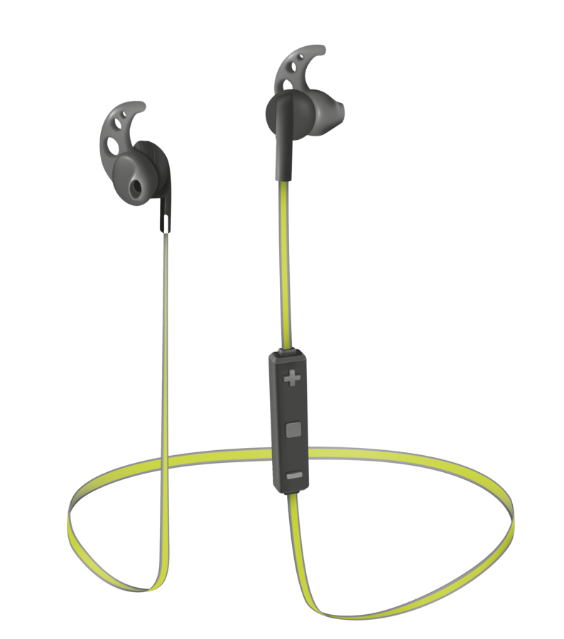 TRUST Sila Wireless Earphones - black/lime