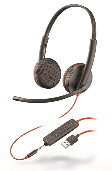 Plantronics Blackwire C3225, Duo, USB/Jack