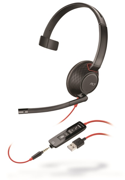 Plantronics Blackwire C5210, Mono, USB/Jack, MS
