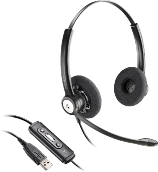 Plantronics HW121, Duo, USB, MS