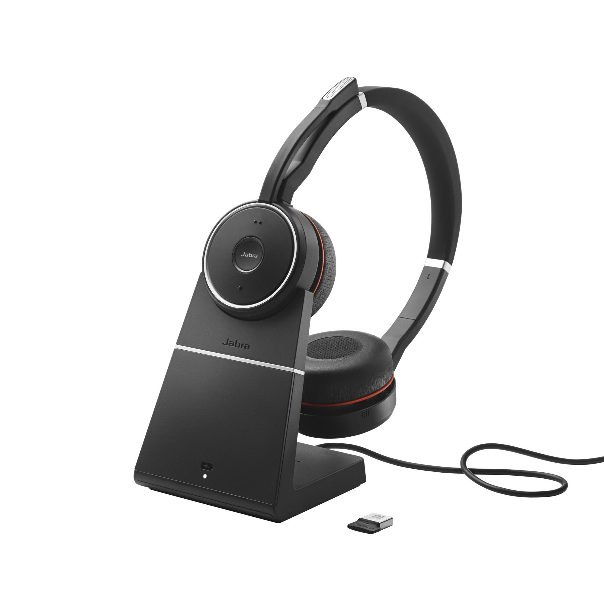 Jabra Evolve 75, Duo, USB-BT, stojánek