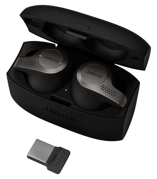 Jabra Evolve 65t, Titanium Black, UC (USB dongle)