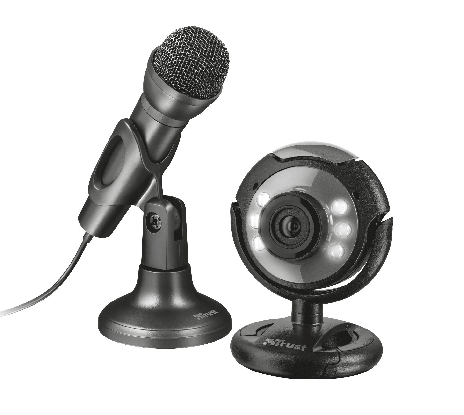 streaming set TRUST webcam + microphone