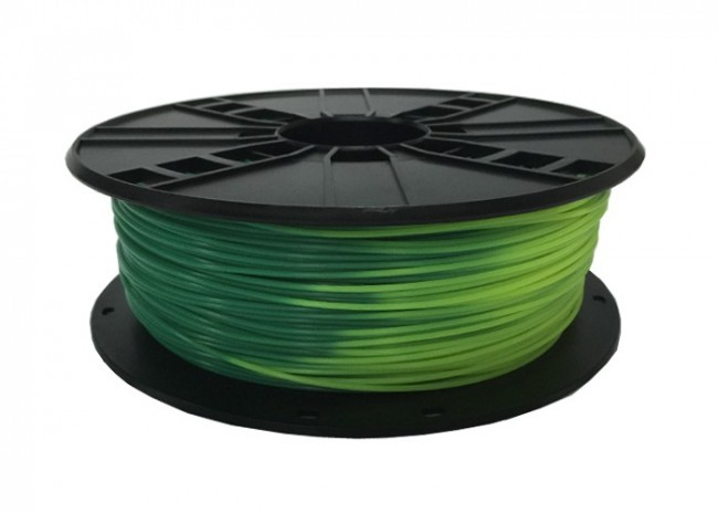 GEMBIRD Struna pro 3D tisk, PLA, 1,75mm, 1kg, blue green to yellow green