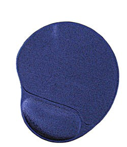 GEMBIRD Gel mouse pad with wrist support, blue