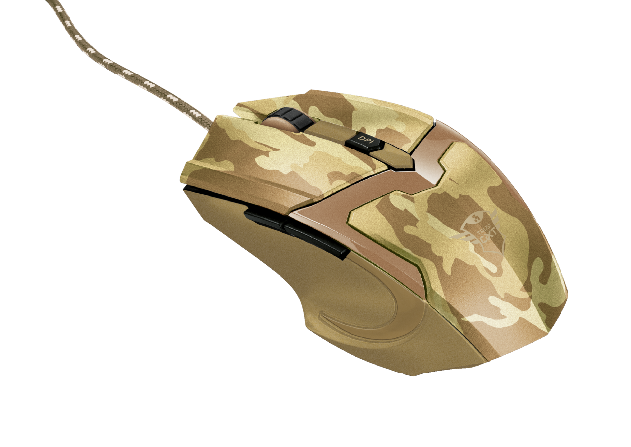 myš TRUST GXT 101D Gav Optical Gaming -desert camo