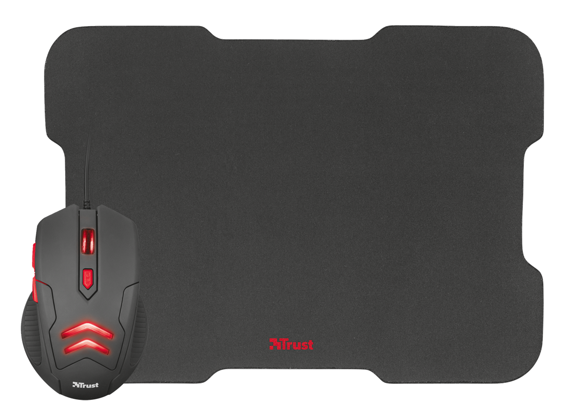 set TRUST ZIVA Gaming Mouse with Mouse Pad
