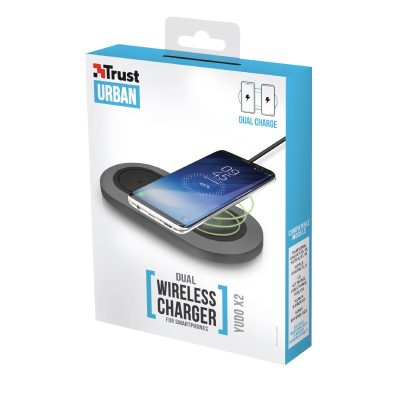 TRUST YudoX2 Dual Wireless Charger 2x5W